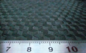 Thermoplastic triaxial carbon fiber prepreg